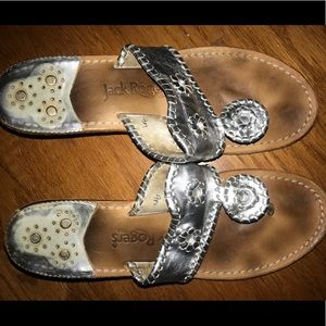 Jack Rogers Silver Small Wedge